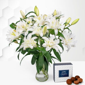 Double-Flowering Lilies - White Lilies Bouquet - Flower Delivery - Next Day Flower Delivery - Flowers By Post - Send Flowers